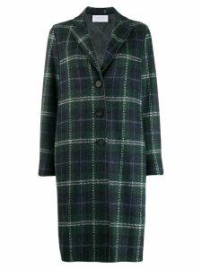 Harris Wharf London oversized check coat - Green