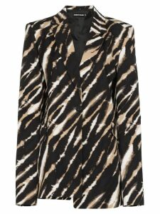 House of Holland asymmetric zebra print blazer - Brown
