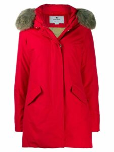 Woolrich faux fur hooded parka - Red