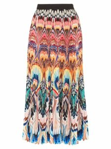 Mary Katrantzou marble print pleated midi skirt - Multicoloured