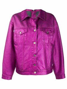 MSGM boxy metallic jacket - Pink