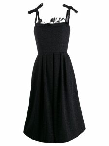 Marco De Vincenzo feathered evening dress - Black