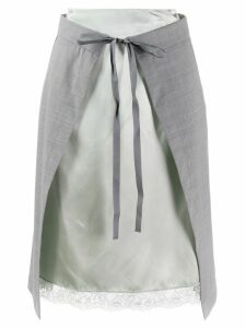 Mm6 Maison Margiela lingerie skirt - Grey