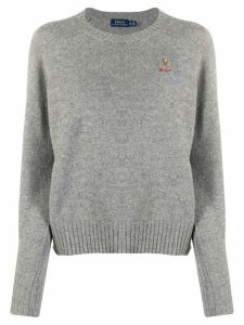 Polo Ralph Lauren embroidered logo jumper - Grey