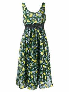 Diane von Furstenberg lemon print dress - Black