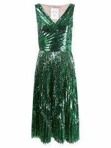 Marco De Vincenzo sequin cocktail dress - Green