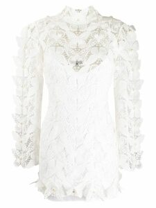 David Koma butterfly lace dress - White
