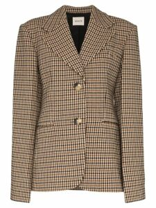 Khaite Kendall checked blazer - Brown