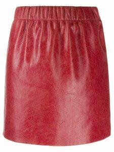 Miu Miu cracked effect mini skirt - Red