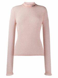 Philosophy Di Lorenzo Serafini textured round neck sweater - Pink