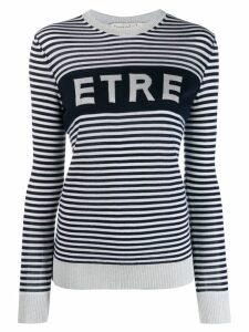 Être Cécile striped logo jumper - Blue