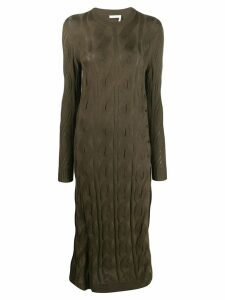 Chloé cable knit jumper dress - Green
