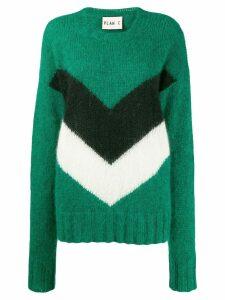 Plan C colour block jumper - Green