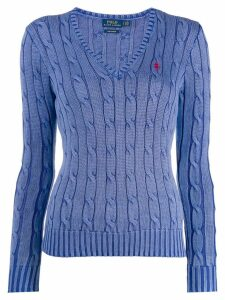Polo Ralph Lauren logo embroidered sweater - Blue