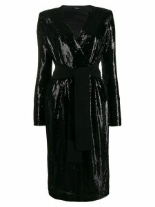 P.A.R.O.S.H. long sequinned party dress - Black