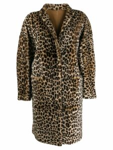 P.A.R.O.S.H. leopard print coat - Brown