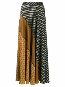 Mes Demoiselles contrast pattern skirt - Black
