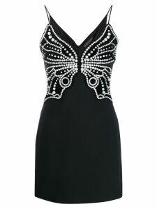 David Koma pearl embellished dress - Black