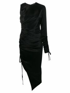 David Koma asymmetric midi dress - Black