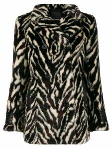Pinko textured animal print jacket - Black