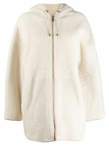 P.A.R.O.S.H. shearling hooded coat - Neutrals