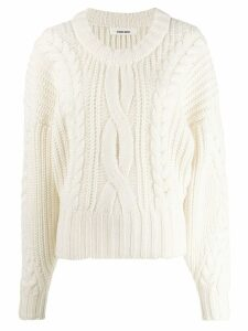 Circus Hotel oversized knitted sweater - Neutrals