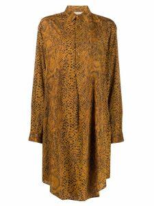 Mes Demoiselles snakeskin effect long shirt - Brown