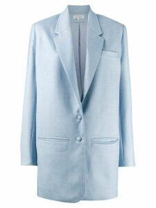 Malaika Raiss longline single-breasted blazer - Blue