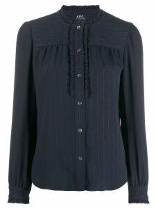 A.P.C. striped blouse - Blue
