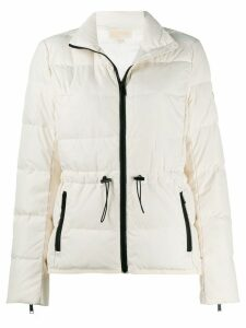 Michael Michael Kors contrast trim puffer jacket - White
