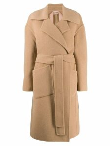 Nº21 double face midi coat - Neutrals