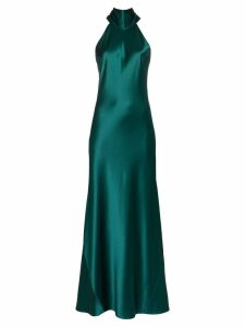 Galvan Sienna halterneck maxi dress - Green