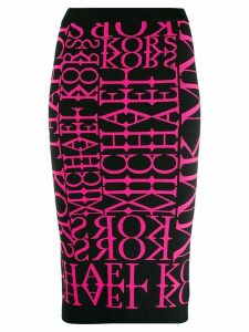 Michael Michael Kors logo knit tube skirt - Pink