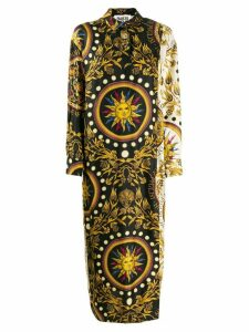 Fausto Puglisi long printed shirt dress - Black