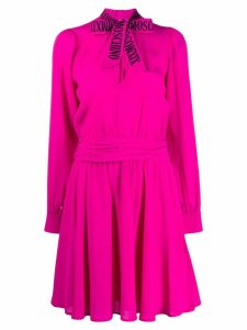 Moschino pussy bow flared dress - Pink