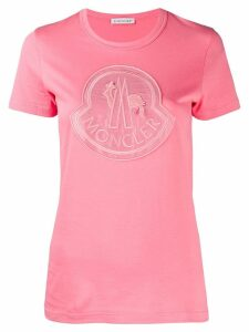 Moncler large chest logo T-shirt - Pink