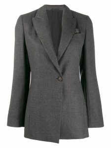 Brunello Cucinelli longline tailored blazer - Grey