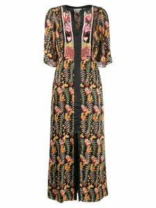 Temperley London Rosy patterned dress - Black
