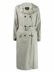 Isabel Marant high standing collar trench coat - Grey