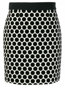 Fausto Puglisi dotted fitted skirt - Black
