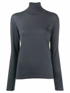 Brunello Cucinelli roll-neck fitted sweater - Blue