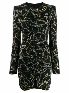 Pinko chain print fitted dress - Black