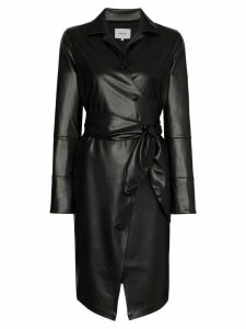 Nanushka Ailsa vegan leather belted dress - Black