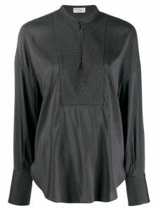 Brunello Cucinelli long-sleeve flared blouse - Grey