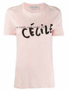 Être Cécile contrast logo T-shirt - Pink
