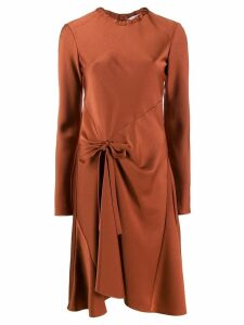 Chloé knot detail flared dress - Brown