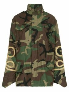 R13 camouflage M65 embroidered jacket - Multicolour