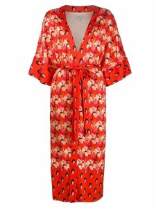 Temperley London Dragonfly kimono coat - Orange