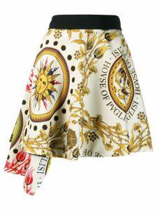 Fausto Puglisi printed asymmetric skirt - Yellow