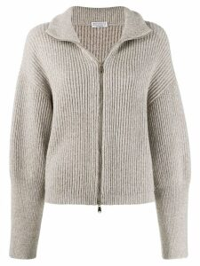 Brunello Cucinelli ribbed cardigan - Neutrals